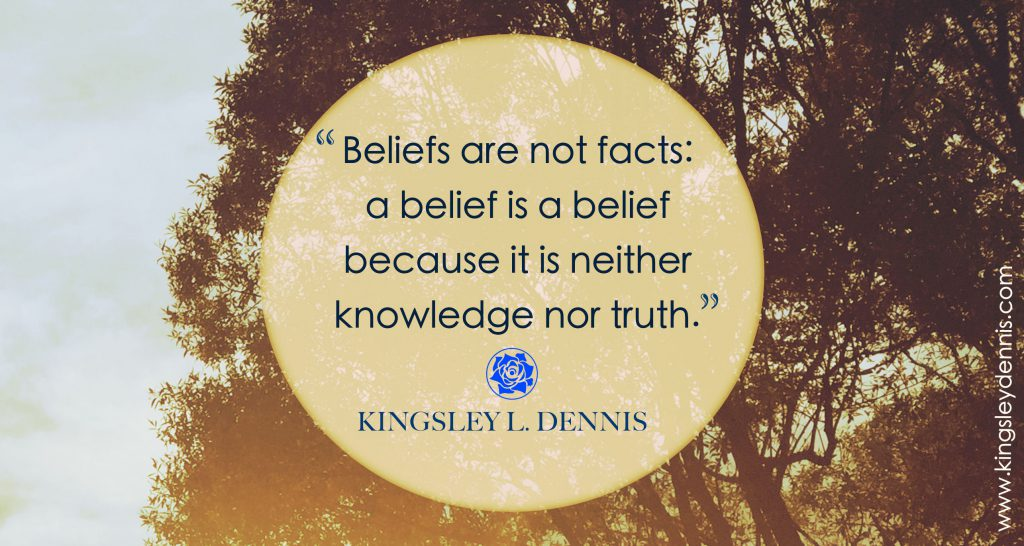 Beliefs are not facts: a belief is a belief because it is neither knowledge nor truth.
