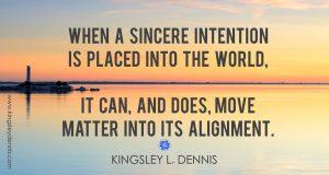 Kingsley L. Dennis - intention